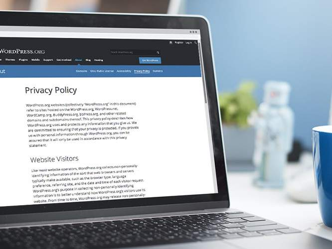 Creating a Privacy Policy for WordPress