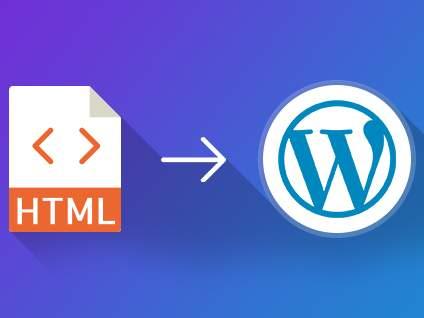 How to convert HTML to WordPress?